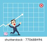 targeting high. businessman... | Shutterstock .eps vector #770688496