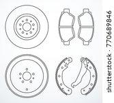brake disc  brake drum and... | Shutterstock .eps vector #770689846