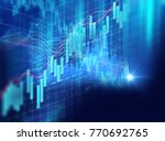 financial stock market graph on ... | Shutterstock . vector #770692765
