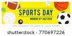 sports day banner vector... | Shutterstock .eps vector #770697226