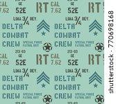 delta combat crew military... | Shutterstock .eps vector #770698168