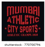 mumbai sport t shirt design ... | Shutterstock .eps vector #770700796