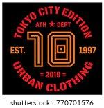 tokyo sport t shirt design ... | Shutterstock .eps vector #770701576