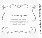 background with calligraphic... | Shutterstock .eps vector #770708806