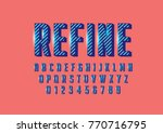 vector of stripy bold font and... | Shutterstock .eps vector #770716795