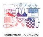 hand drawn fashion illustration.... | Shutterstock .eps vector #770717392