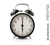 black alarm clock isolated on... | Shutterstock . vector #770717722