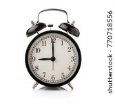 black alarm clock isolated on... | Shutterstock . vector #770718556