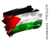 palestine flas on ink brush | Shutterstock .eps vector #770721175