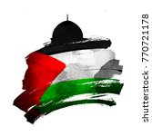 al quds mosqued dome silhouette ... | Shutterstock .eps vector #770721178