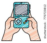 gamer with portable game video