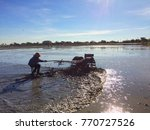plowing to prepare space to...   Shutterstock . vector #770727526