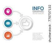 vector infographic template for ... | Shutterstock .eps vector #770737132