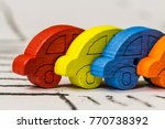 Colorful Tiny Cars Depicting...