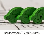 colorful tiny cars depicting... | Shutterstock . vector #770738398