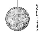 silver disco ball vector. dance ... | Shutterstock .eps vector #770738872