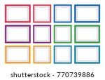 set of frame vector with blank... | Shutterstock .eps vector #770739886