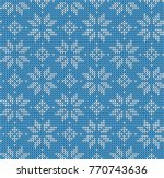 christmas seamless pattern.... | Shutterstock .eps vector #770743636