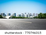 lake with city   Shutterstock . vector #770746315
