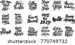 set of hand written lettering...   Shutterstock .eps vector #770749732