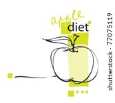 apple icon  page layout ...   Shutterstock .eps vector #77075119