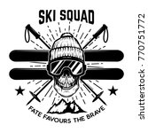 ski squad. extreme skull with... | Shutterstock .eps vector #770751772