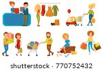 various people shopping in a... | Shutterstock .eps vector #770752432