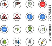 line vector icon set   right... | Shutterstock .eps vector #770753896