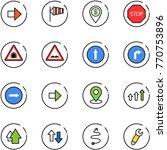 line vector icon set   right...   Shutterstock .eps vector #770753896