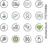line vector icon set   disabled ... | Shutterstock .eps vector #770754886