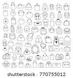 hand drawn bags. woman... | Shutterstock .eps vector #770755012