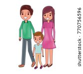 family father mother and son... | Shutterstock .eps vector #770756596