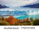 the perito moreno glacier is a... | Shutterstock . vector #770757355