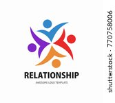 social network team partners... | Shutterstock .eps vector #770758006