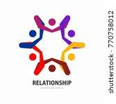 social network team partners... | Shutterstock .eps vector #770758012