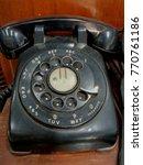 Small photo of Antique Telephone,Antique Telephone pattern,Black Telephone