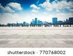 shanghai skyline in sunny day ... | Shutterstock . vector #770768002