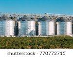 modern granary  grain drying... | Shutterstock . vector #770772715
