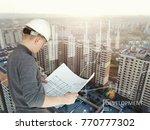 a real estate development...   Shutterstock . vector #770777302