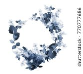 watercolor wreath in a cold... | Shutterstock . vector #770777686