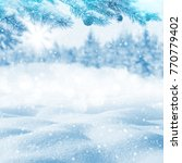winter bright background.... | Shutterstock . vector #770779402