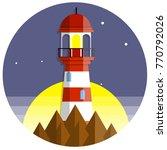 cartoon flat illustration   red ... | Shutterstock .eps vector #770792026
