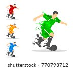 vector illustration of soccer...   Shutterstock .eps vector #770793712