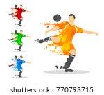 vector illustration of soccer... | Shutterstock .eps vector #770793715