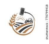 agriculture legal logo vecto | Shutterstock .eps vector #770799418