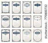 set of vintage frames with... | Shutterstock .eps vector #770800732