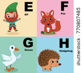 vector illustration of alphabet ... | Shutterstock .eps vector #770807485