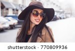 outdoor fashion portrait of a... | Shutterstock . vector #770809936