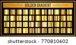 set golden gradient backgrounds.... | Shutterstock .eps vector #770810602