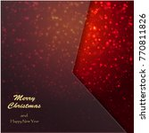 christmas background. sparkling ...   Shutterstock .eps vector #770811826